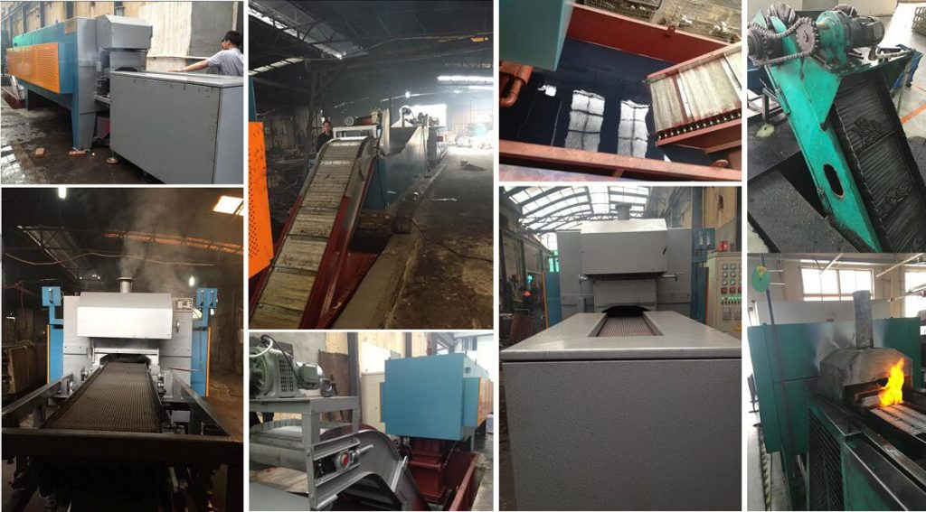 mesh-belt-conveyor-muffle-furnace-on-site